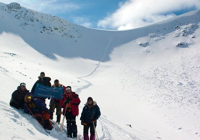 Участники экспедиции в Саяны на перевале Усть-Илимцев