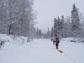 Облачная погода и последние метры льда на Фролихе
