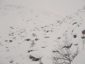 Нетрадиционный ледопад на взлёте перевала Доброй воли