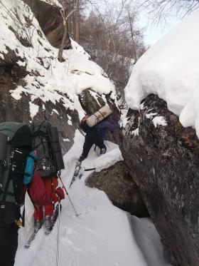 Лыжная акробатика в каньоне
